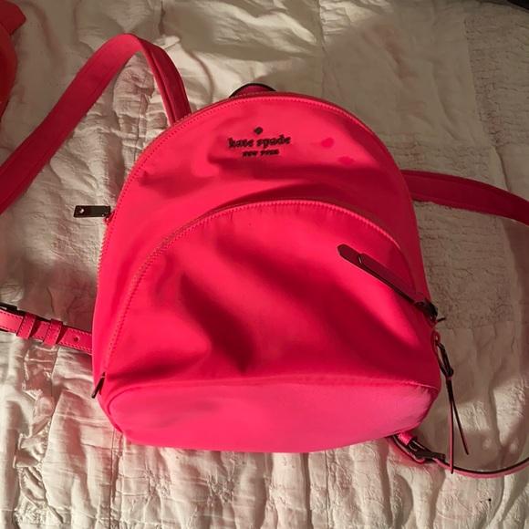 Kate Spade Neon Pink Nylon Backpack